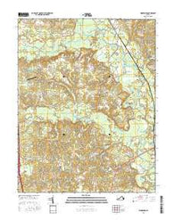 Woodford Virginia Current topographic map, 1:24000 scale, 7.5 X 7.5 Minute, Year 2016