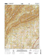 Woodstock Virginia Current topographic map, 1:24000 scale, 7.5 X 7.5 Minute, Year 2016 from Virginia Maps Store