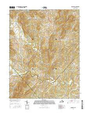 Woodville Virginia Current topographic map, 1:24000 scale, 7.5 X 7.5 Minute, Year 2016 from Virginia Maps Store