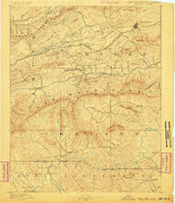 Wytheville Virginia Historical topographic map, 1:125000 scale, 30 X 30 Minute, Year 1889