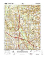 Yellow Tavern Virginia Current topographic map, 1:24000 scale, 7.5 X 7.5 Minute, Year 2016 from Virginia Map Store