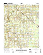 Zuni Virginia Current topographic map, 1:24000 scale, 7.5 X 7.5 Minute, Year 2016 from Virginia Map Store