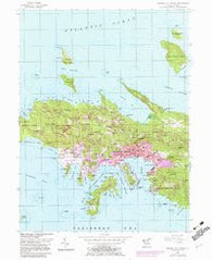 Central St. Thomas Virgin Islands Historical topographic map, 1:24000 scale, 7.5 X 7.5 Minute, Year 1955