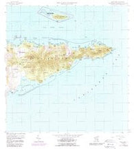 East Point Virgin Islands Historical topographic map, 1:24000 scale, 7.5 X 7.5 Minute, Year 1958