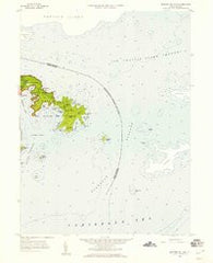 Eastern St. John Virgin Islands Historical topographic map, 1:24000 scale, 7.5 X 7.5 Minute, Year 1958