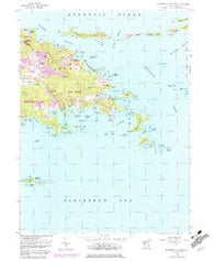 Eastern St. Thomas Virgin Islands Historical topographic map, 1:24000 scale, 7.5 X 7.5 Minute, Year 1954