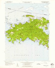 Western St. John Virgin Islands Historical topographic map, 1:24000 scale, 7.5 X 7.5 Minute, Year 1958