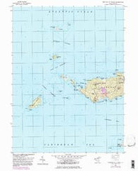 Western St. Thomas Virgin Islands Historical topographic map, 1:24000 scale, 7.5 X 7.5 Minute, Year 1955