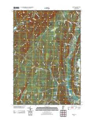 Albany Vermont Historical topographic map, 1:24000 scale, 7.5 X 7.5 Minute, Year 2012