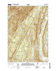 Albany Vermont Current topographic map, 1:24000 scale, 7.5 X 7.5 Minute, Year 2015