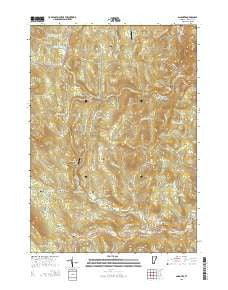 Andover Vermont Current topographic map, 1:24000 scale, 7.5 X 7.5 Minute, Year 2015