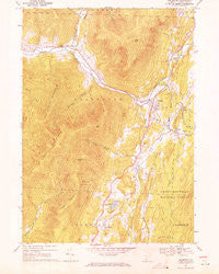 Arlington Vermont Historical topographic map, 1:24000 scale, 7.5 X 7.5 Minute, Year 1967