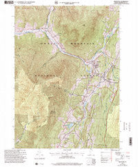 Arlington Vermont Historical topographic map, 1:24000 scale, 7.5 X 7.5 Minute, Year 1997