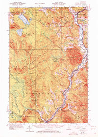 Averill Vermont Historical topographic map, 1:62500 scale, 15 X 15 Minute, Year 1953