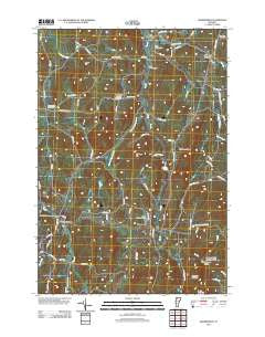 Bakersfield Vermont Historical topographic map, 1:24000 scale, 7.5 X 7.5 Minute, Year 2012