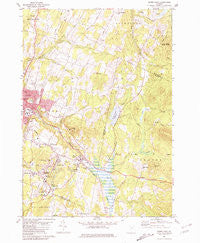 Barre East Vermont Historical topographic map, 1:24000 scale, 7.5 X 7.5 Minute, Year 1981