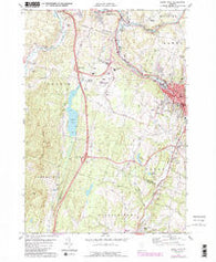 Barre West Vermont Historical topographic map, 1:24000 scale, 7.5 X 7.5 Minute, Year 1978