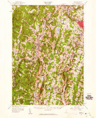 Barre Vermont Historical topographic map, 1:62500 scale, 15 X 15 Minute, Year 1957
