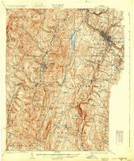Barre Vermont Historical topographic map, 1:62500 scale, 15 X 15 Minute, Year 1924