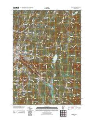 Barre East Vermont Historical topographic map, 1:24000 scale, 7.5 X 7.5 Minute, Year 2012