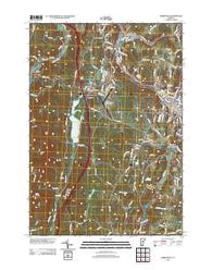 Barre West Vermont Historical topographic map, 1:24000 scale, 7.5 X 7.5 Minute, Year 2012