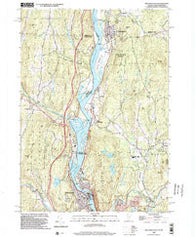 Bellows Falls Vermont Historical topographic map, 1:24000 scale, 7.5 X 7.5 Minute, Year 1998