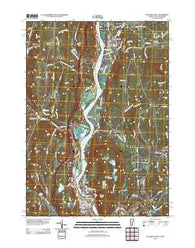 Bellows Falls Vermont Historical topographic map, 1:24000 scale, 7.5 X 7.5 Minute, Year 2012