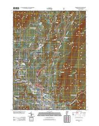 Bennington Vermont Historical topographic map, 1:24000 scale, 7.5 X 7.5 Minute, Year 2012