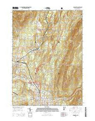 Bennington Vermont Current topographic map, 1:24000 scale, 7.5 X 7.5 Minute, Year 2015