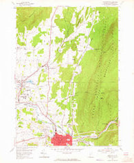 Bennington Vermont Historical topographic map, 1:24000 scale, 7.5 X 7.5 Minute, Year 1954