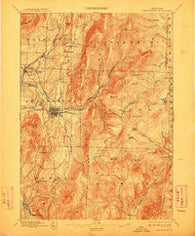 Bennington Vermont Historical topographic map, 1:62500 scale, 15 X 15 Minute, Year 1898