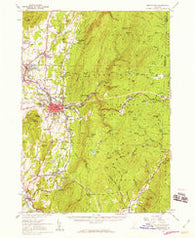 Bennington Vermont Historical topographic map, 1:62500 scale, 15 X 15 Minute, Year 1954