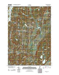 Benson Vermont Historical topographic map, 1:24000 scale, 7.5 X 7.5 Minute, Year 2012