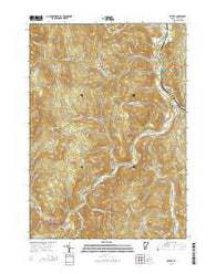 Bethel Vermont Current topographic map, 1:24000 scale, 7.5 X 7.5 Minute, Year 2015