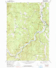 Bethel Vermont Historical topographic map, 1:24000 scale, 7.5 X 7.5 Minute, Year 1980