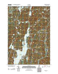 Bomoseen Vermont Historical topographic map, 1:24000 scale, 7.5 X 7.5 Minute, Year 2012