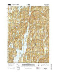 Bomoseen Vermont Current topographic map, 1:24000 scale, 7.5 X 7.5 Minute, Year 2015