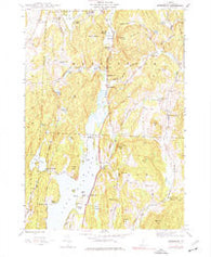 Bomoseen Vermont Historical topographic map, 1:24000 scale, 7.5 X 7.5 Minute, Year 1944