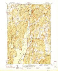 Bomoseen Vermont Historical topographic map, 1:31680 scale, 7.5 X 7.5 Minute, Year 1944