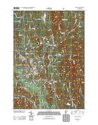 Brandon Vermont Historical topographic map, 1:24000 scale, 7.5 X 7.5 Minute, Year 2012