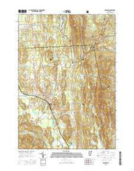 Brandon Vermont Current topographic map, 1:24000 scale, 7.5 X 7.5 Minute, Year 2015