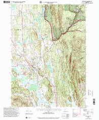 Brandon Vermont Historical topographic map, 1:24000 scale, 7.5 X 7.5 Minute, Year 1997