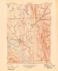 Brandon Vermont Historical topographic map, 1:31680 scale, 7.5 X 7.5 Minute, Year 1946