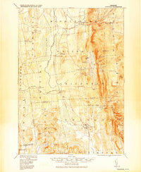 Brandon Vermont Historical topographic map, 1:62500 scale, 15 X 15 Minute, Year 1920