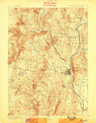 Brattleboro Vermont Historical topographic map, 1:62500 scale, 15 X 15 Minute, Year 1893