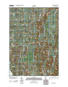 Bridport Vermont Historical topographic map, 1:24000 scale, 7.5 X 7.5 Minute, Year 2012