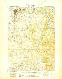 Burlington Vermont Historical topographic map, 1:62500 scale, 15 X 15 Minute, Year 1919