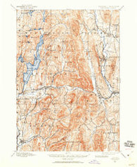 Castleton Vermont Historical topographic map, 1:62500 scale, 15 X 15 Minute, Year 1895