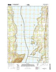 Charlotte Vermont Current topographic map, 1:24000 scale, 7.5 X 7.5 Minute, Year 2015 from Vermont Maps Store