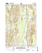 Cornwall Vermont Current topographic map, 1:24000 scale, 7.5 X 7.5 Minute, Year 2015 from Vermont Map Store